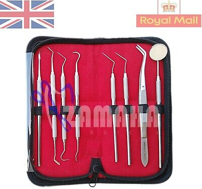 Dental Tartar Calculus Plaque Remover Tooth Scraper Mirror Scaler Kit Set 8-CE