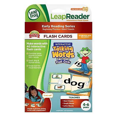 LeapFrog Tag Talking Words Factory Interactive Flash Cards w/Storage Box New
