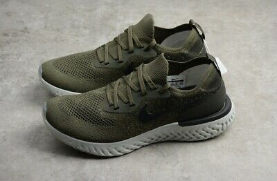 sports shoes dc024 cc566 New Nike Epic React Flyknit Olive Black Mens Size 12 Running Shoes AQ0067- 003