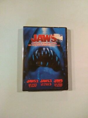 3 Feature - Jaws 2 / Jaws 3 / Jaws The Revenge (DVD, 2015) New