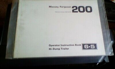 Massey-Ferguson 200 Instruction Book  For Hi-Dump Trailer 1983