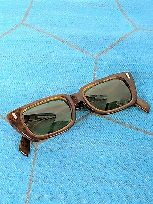 """Vintage Cool-Ray Polaroid 130 """"Country Set"""" Plastic Translucent Brown Sunglasses"""