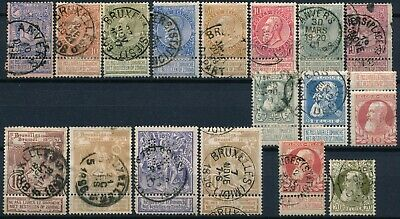 Belgium, Nice Classic Unchecked Lot Of Different Used Stamps. #l842