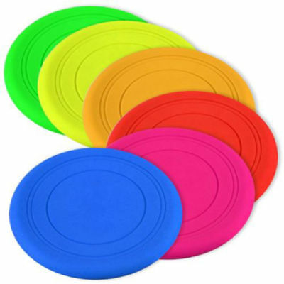 Silicone Pet Dog Flying Saucer Disc Toy for Exercise Training Tool OK-k