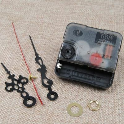 Quartz Clock Movement Mechanism Repair DIY Tool Kit+Black Hands Replacement US