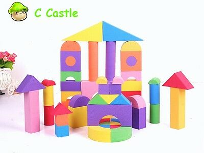 Giant Foam Blocks Soft Color Building Block Waterproof Safe Educational Kids Toy