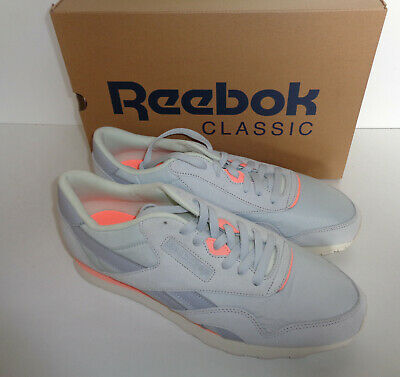 978b7dc322c9e5 Reebok Mens New Classic Nylon Suede Retro Trainers Shoes Lace Up New UK  Size 9