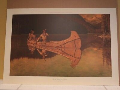 Arnold Friberg IN THE WATERS OF MANITOU Ltd Ed Canada Native American #1119/1500