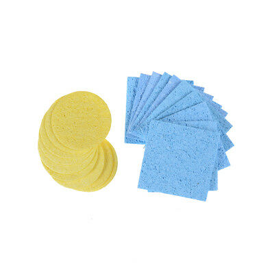 10Pcs High Temperature Sponge Clean Tin Welding Soldering Iron Round SquareJC RA