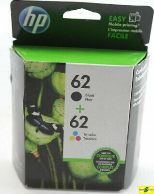 HP 62 Genuine Black & Color ink HP62 Combo Ink Cartridges  Brand New in Box