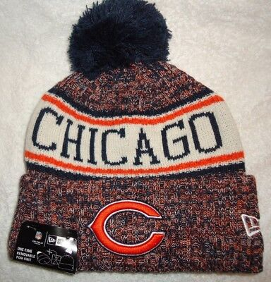 best loved on feet shots of new arrivals CHICAGO BEARS NFL Authentic New Era 2018 On Field Sport Knit Hat ...