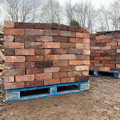Red Reclaimed Imperial Bricks Vintage Mould Handmade - CLEANED & READY - 10,000+