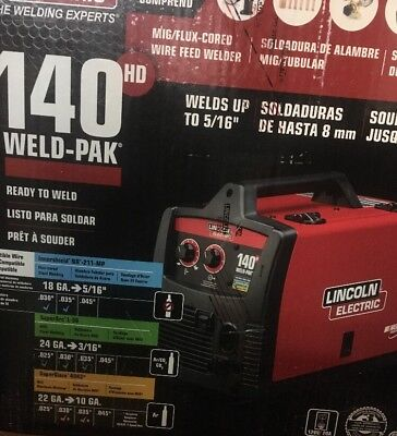 Brand New Lincoln Electric 140 Hd Weld-Pak