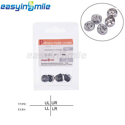EASYINSMILE 1 Pack Dental Kids Primary Crown Lower Molar Right Temporary Crowns