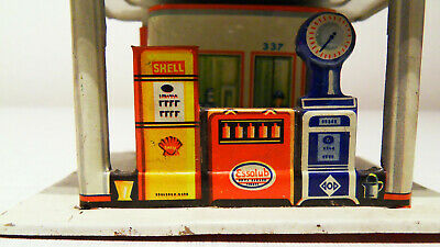 Kleine Penny Toy Tankstelle Esso Shell Made in Western Germany
