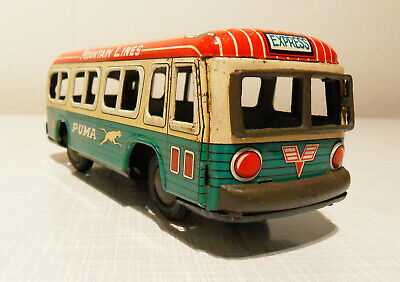 Express Bus Mountain Line Puma - Made in Japan by Daiya Toys Tokio um 1960/70