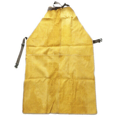 Cowhide Working Apron Tool Pockets Heat Flame Resistant Adjustable