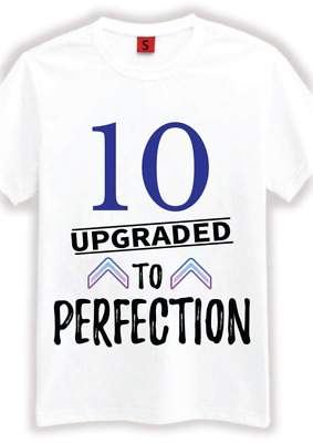 10 AGED PERFECTION T SHIRT10TH BIRTHDAY GIFT PRESENTS FOR YEAR OLD BOYS GIRL