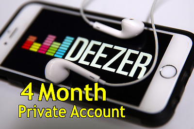 Deezer Premium Account 4 Months Subscription 100% Private (Guaranteed)