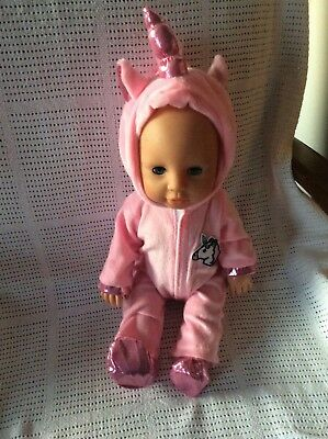 FITS MY FIRST BABY ANNABELL 16 inch doll or similar PINK DOLLS UNICORN OUTFIT