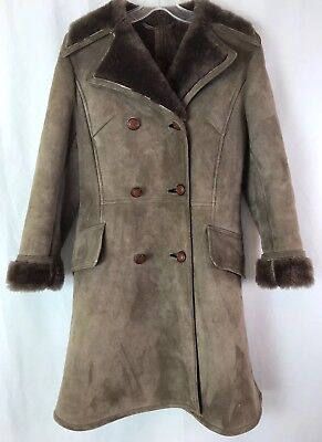 Vtg Richard Draper England Genuine Sheepskin Shearling Coat Jacket Small 34 NOS