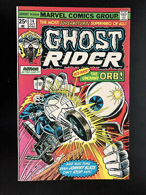 Ghost Rider #14/Classic Orb Cover!/VF+/1975/High Grade!