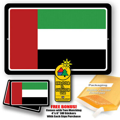 United Arab Emirates Country Flag Man Cave Metal Decor Tin Sign Novelty Gifts