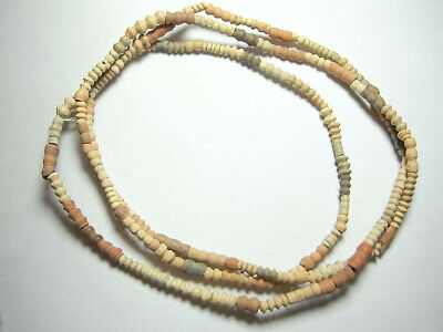 Colourful Ancient Egyptian Terracotta 1500BC Restrung Wearable Necklace