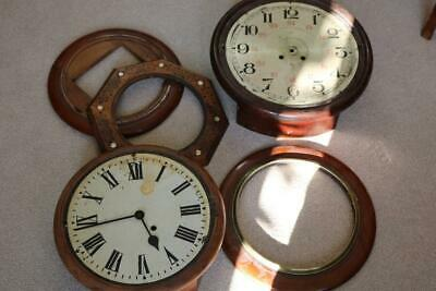 WALL DIAL CLOCK CASE PARTS assorted ages, finishes and condition