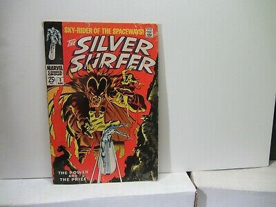 Silver Surfer #3 (1968)  Marvel Key Issue Comic Silver Age 1st Mephisto Ap