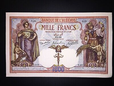Algeria 1000 Francs 1926  RARE (Copy)