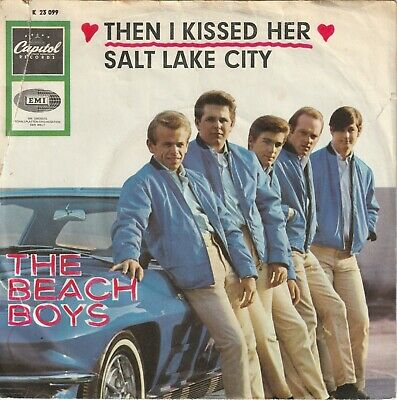 """The Beach Boys Then I Kissed Her / Salt Lake City Car Cover 7"""" 45 PS German Surf"""