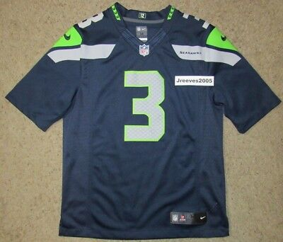 7d0ae64a9 Nike Seattle Seahawks Color Rush Limited Jersey Russell Wilson  3 Sz Medium
