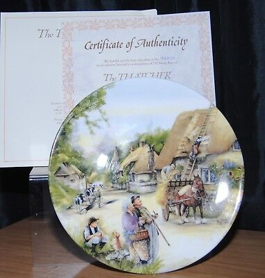 Royal Doulton Old Country Crafts Collection The Thatcher Plate