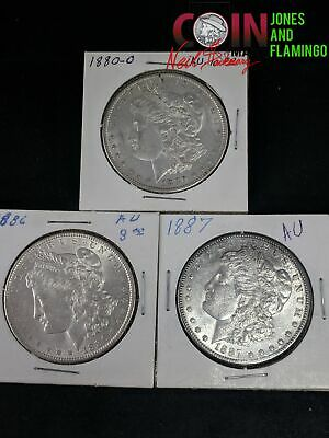 Lot Of 3 Us Morgan 90% Silver Dollar Coins 1880 New Orleans, 1886 & 1887 #28169