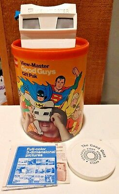 1975 View-Master Good Guys Gift Pak by GAF w/ Reels and Canister TESTED WORKING