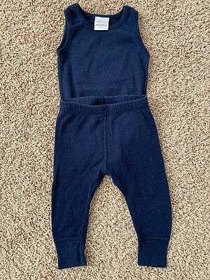 Hanna Anderson Navy Bodysuit 3-6months Or 60cm In Excellent Condition!