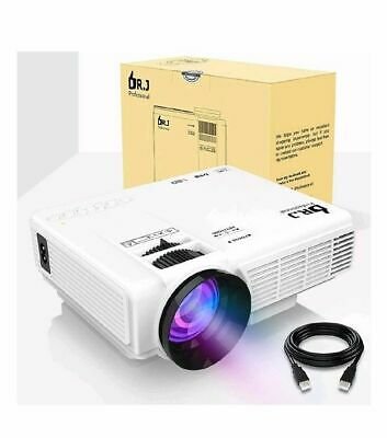 """DR.J 4Inch Mini Projector with 170"""" Display - 40,000 Hour LED Full HD projector"""