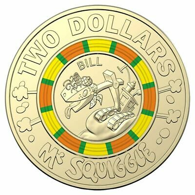 "2019 $2 Coin ""Bill Steamshovel"" 60th Anniversary of Mr Squiggle and Friends"