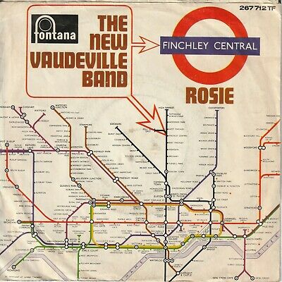 """New Vaudeville Band Finchley Central Rosie German 7"""" 45 PS"""
