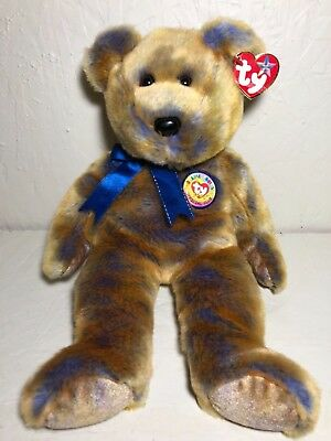 770dae49817 Ty Beanie Babies Clubby III Official Club Bear 2000 with Tags 14 Inch Toy  RARE