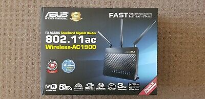 ASUS RT-AC68U AC1900 Mbps Dual Band Gigabit Wireless NBN Router New