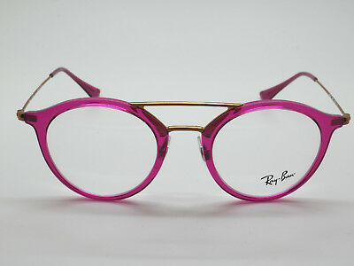 1ab62776b1 NEW Authentic Ray Ban RB 7097 5631 Fuchsia Copper 47mm RX Eyeglasses