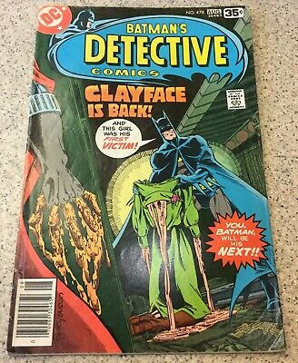 Detective Comics #478 1978 Batman Marshall Rogers Clayface Fine/Very Fine 7.0