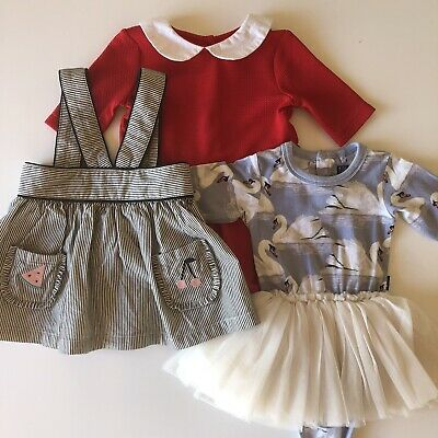 3 Three Baby Girl Frocks Dresses Rock Your Baby Tutu Dress Country Road Origami