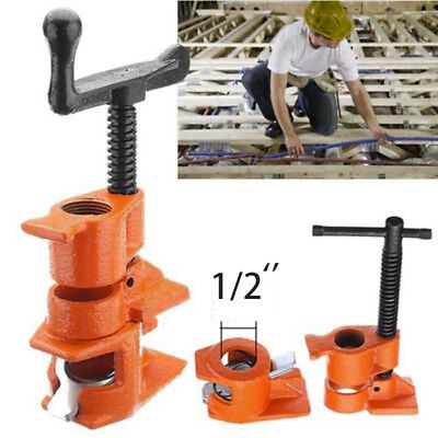"""3/4inch 1/2"""" Wood Gluing Pipe Clamp Set Heavy Duty PRO Woodworking Cast Iron New"""