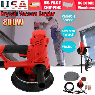 Heavy Duty Electric 1580W Variable Speed Drywall Sander HandHeld & LED Light US