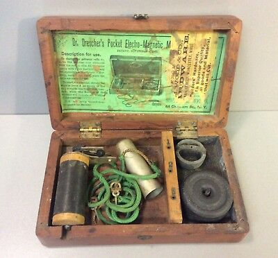 1879 DR DRESCHER'S POCKET ELECTRO-MAGNETIC MACHINE,SHOCK/QUACK MEDICINE therapy