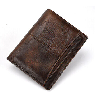 Men's Wallet Real Genuine Leather ID More Card Holders Vintage Case Bags Purse