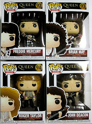 QUEEN Freddie Mercury, Brian May, Roger Taylor & John Deacon - SET - Funko Pop!